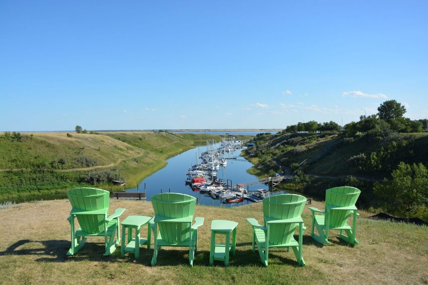 View of the Elbow Marina from the golf course patio