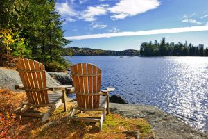Chairs with a view of a lake