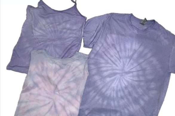 Tie Dye with purple cabbage