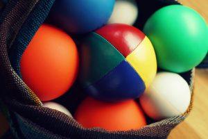 Juggling balls in a bag
