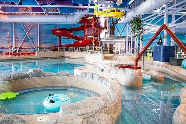 View overlooking Access Communications indoor water park